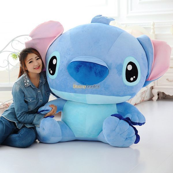 Fancytrader 47  120cm Biggest Huge Giant Stuffed Soft Plush Stitch Toy 2 Colors Available Nice