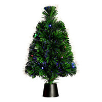 45cm Holiday Optical Fiber Artificial Mini Christmas Tree Colorful Lights Small Christmas Tree Desktop Craft Bar