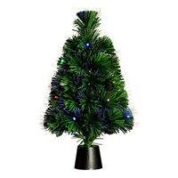 45cm Holiday Optical Fiber Artificial Mini Christmas Tree Colorful Lights Small Christmas Tree Desktop Craft Bar