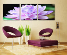 Pink Lotus Flower Wall Pictures Canvas Painting On Canvas Modern Flower Oil Painting Paint By Numbers Unframed(China)