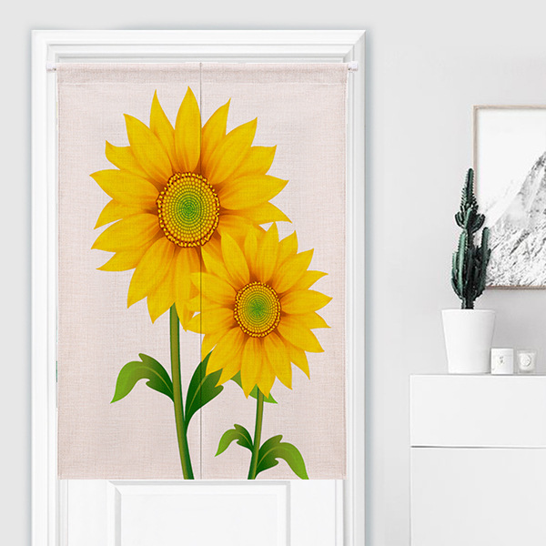Fruit Pattern Kitchen Curtains: Sunflower And Cartoon Fruit Pattern Curtain Thickened