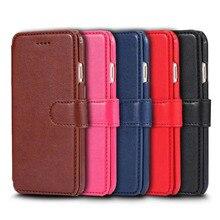 Новое поступление Роскошный кожаный бумажник чехол для телефона iPhone 7 6 6 S Plus флип чехол слот для карт Дело Стенд для iPhone 7 Plus
