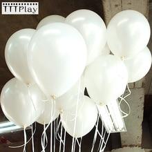 100 pcs/lot 10 pouces 1.5g blanc Latex ballons décoration de mariage gonflable fête danniversaire hélium ballons Globos Balony fournitures