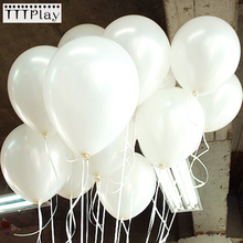 100pcs/lot 10 Inch 1.5g White Latex Balloons Wedding Decoration Inflatable Birthday Party Helium Balloons Globos Balony Supplies