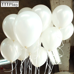 Image 1 - 100pcs/lot 10 Inch 1.5g White Latex Balloons Wedding Decoration Inflatable Birthday Party Helium Balloons Globos Balony Supplies