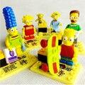 Jlb los simpsons serie decool building blocks establece juguetes figura ladrillos compatible 6 unids/lote juguetes educativos