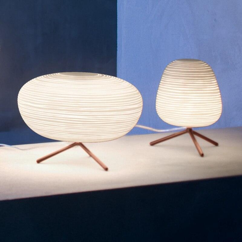 Nordique contracté vis verre lampe de Table chambre contemporaine créative décorative étude maison hôtel chevet Led E27 lampe de bureau - 6