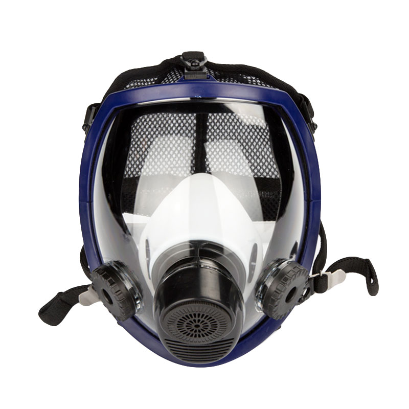 Gas masks 2 in 1 Function Full Face Respirator Mask Breather Silicone Mask Industry Painting Spraying Anti-dust Safety Working 11 in 1 suit 3m 6200 half face mask with 2091 industry paint spray work respirator mask anti dust respirator fliters