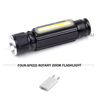 mini Portable USB built in 18650 battery flashlight led cob work torch xml t6 waterproof linterna led camping lanternas lamp