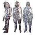 Быстрая доставка тепловое излучение 700-1000 градусов термостойкий алюминизированный костюм огнезащитная одежда