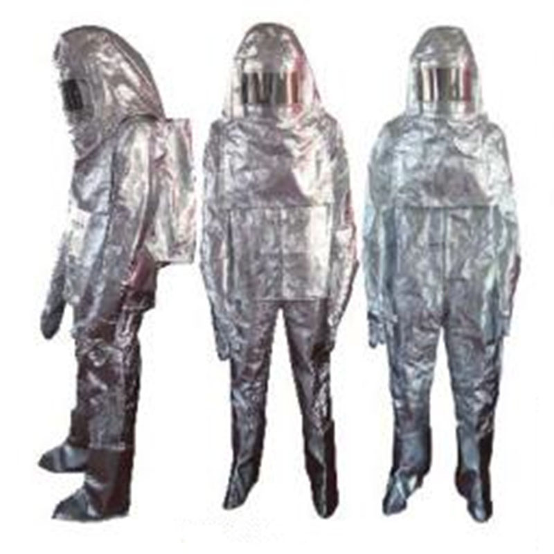 Fast Shipping Thermal Radiation 700-1000 Degree Heat Resistant Aluminized Suit Fireproof Clothes