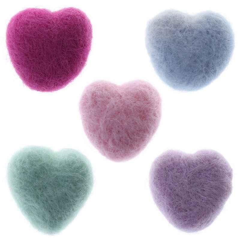 Corazón de lana recién nacido forma de corazón rellenos atrezos para fotografía de bebés foto Shot DIY tocado pelo gorra de banda Ropa Decoración Linda