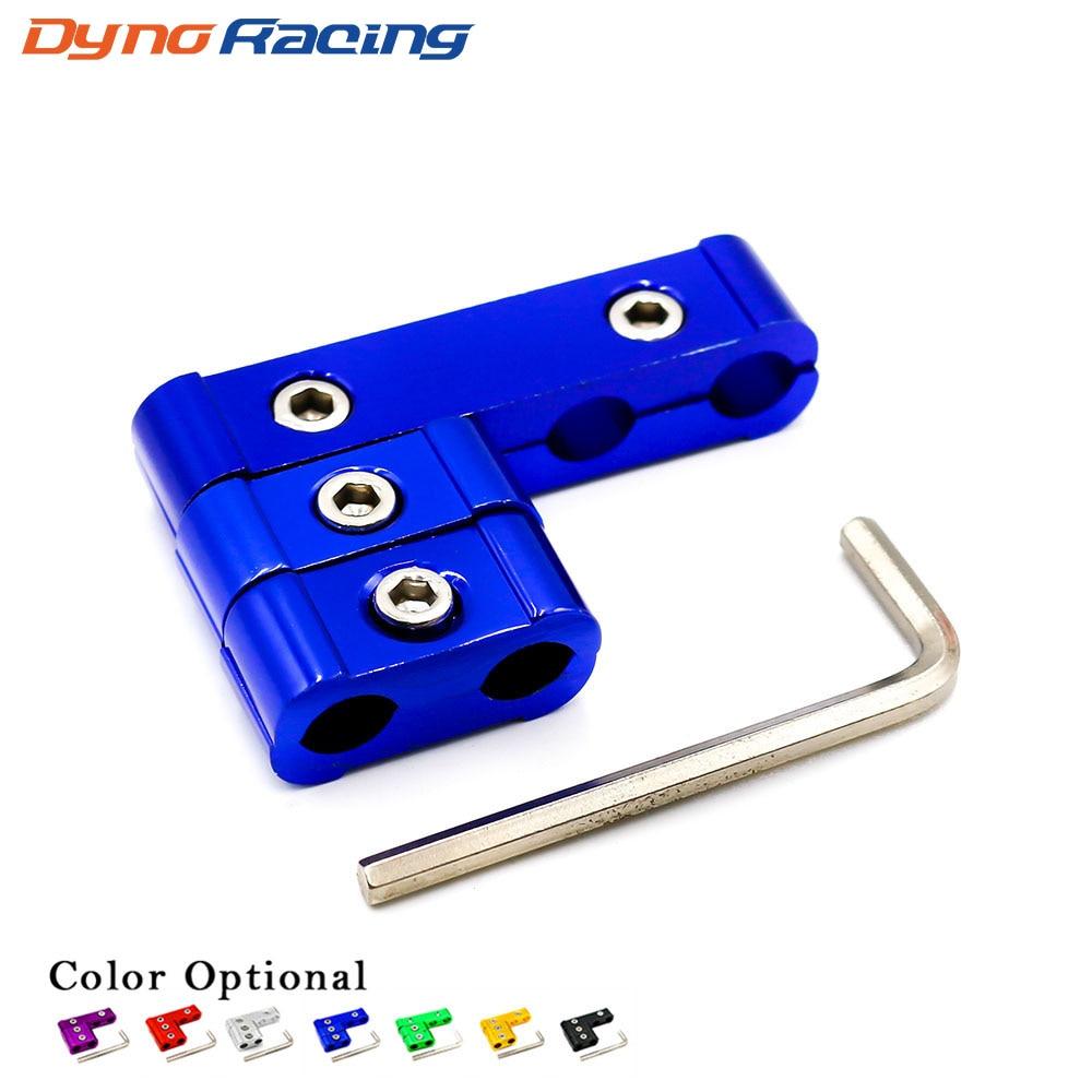 Universal ENGINE SPARK PLUG WIRE SEPARATOR DIVIDER CLAMP KIT FOR 7MM 8MM 12 BLU