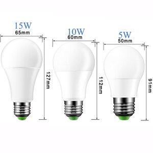 Image 5 - E27 LED 16 zmiana koloru RGB magiczny Led żarówki 5/10/15W 85 265V RGB oświetlenie punktowe lampa Led + pilot zdalnego sterowania na podczerwień LED żarówki do domu