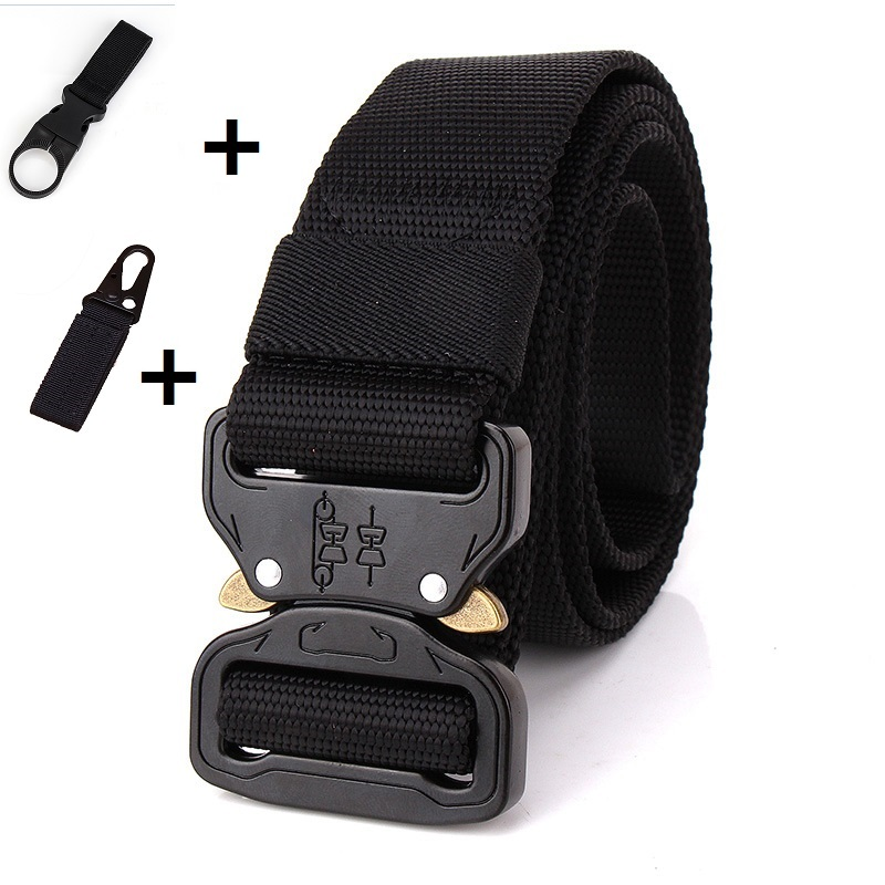 125CM Tactical   Belt   Military Nylon   Belt   Men Army Style   Belt   Automatic Metal Buckle Cinturon Quality SWAT Waist Strap Hunting