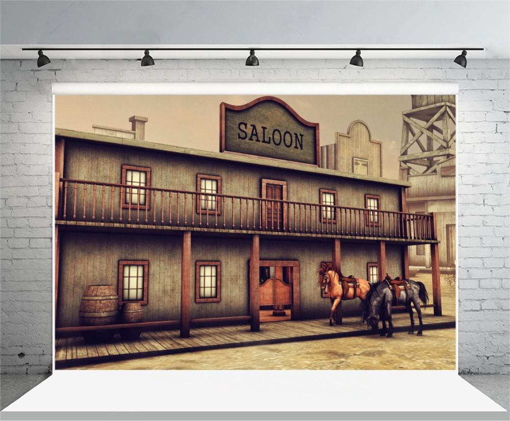 laeacco old us western cowboy saloon scene photography backdrop vinyl custom photography. Black Bedroom Furniture Sets. Home Design Ideas