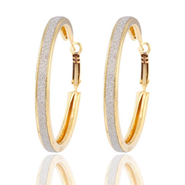 10 Pairs Lot Hoop Earrings Women Silver Gold Color Large Round Loop Earring Fashion