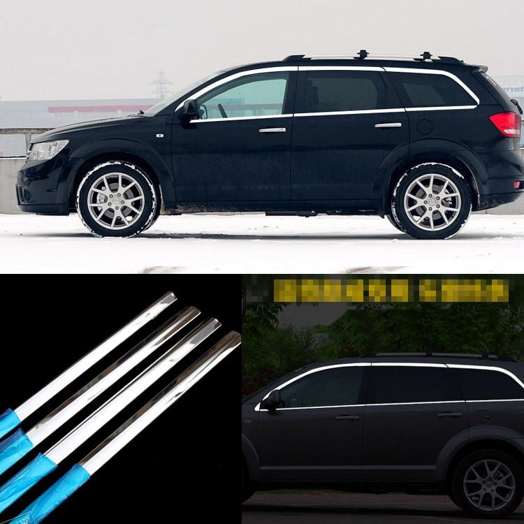 Alloy Under Window Chrome Trim sill Strip For Fiat Freemont 2013 2014 20152016