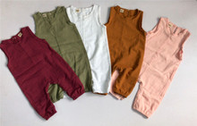 PUDCOCO Summer Newborn Infant Boys Girls Solid Sleeveless Long Romper Jumpsuit Playsuit Outfit Casual Cute Sunsuit Clothes 0-24M