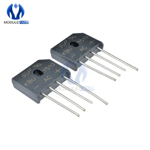 5PCS Diode Bridge Rectifier KBU1510 KBU 1510 DIP KBU-1510 15A 1000V Ponte Retificador Electronica Componentes Diy Electronic