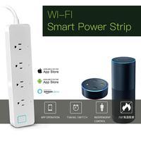 MỸ Cắm WiFi Ổ Cắm Thông Minh Cho Amazon Alexa Bằng Giọng Nói App Thời Gian kiểm soát Một Cách Riêng Biệt Kiểm Soát Liên Kết Chế Độ 4 Outlet Điện Bên Ngoài dải