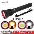 Krachtige XHP70.2 led duiken zaklamp onderwater torch 26650 waterdichte CR xhp70 flash licht lantaarn Lamp 4200 lumen
