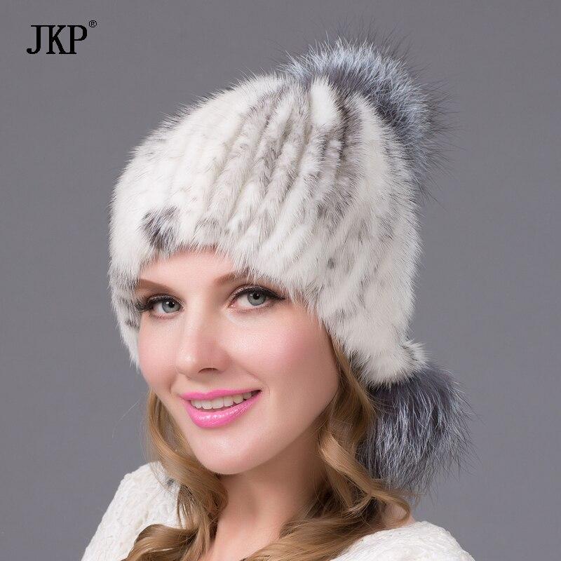 """""""JKPwomen"""" tikros natūralios audinės kailio mados kepurės - Drabužių priedai"""