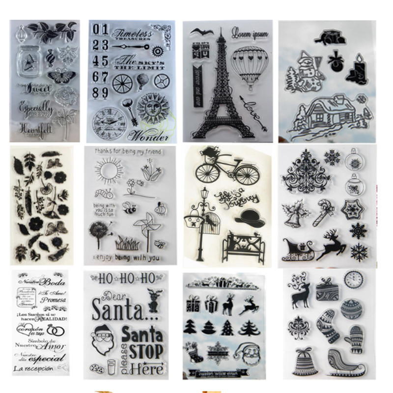 11*16 Mermaid Rabbit Owl Christmas Stamp Transparent Rubber Clear Stamp Clear craft  stamps for DIY Scrapbooking Decoration low price quartz dia 48mm thick 3mm 1064nm protective window for engraved christmas ornamemts rubber stamp machine