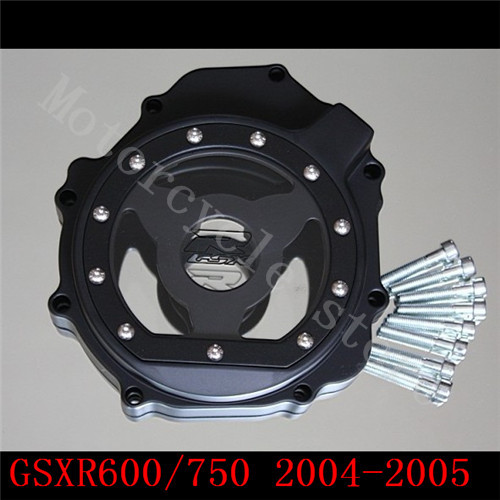 For Suzuki GSXR600 GSXR750 2004-2005 K4 GSXR1000 2003 2004 K3 GSXR 600 750 1000 Engine Stator cover see through Black left side fit for suzuki gsxr1000 gsxr 1000 2005 2008 motorcycle engine stator cover see through black left side k5 k7
