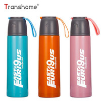 Transhome Thermos Water Bottle 500ml Thermal Cup Stainless Steel Glass Liner Vacuum Flask Tumbler Water Bottle