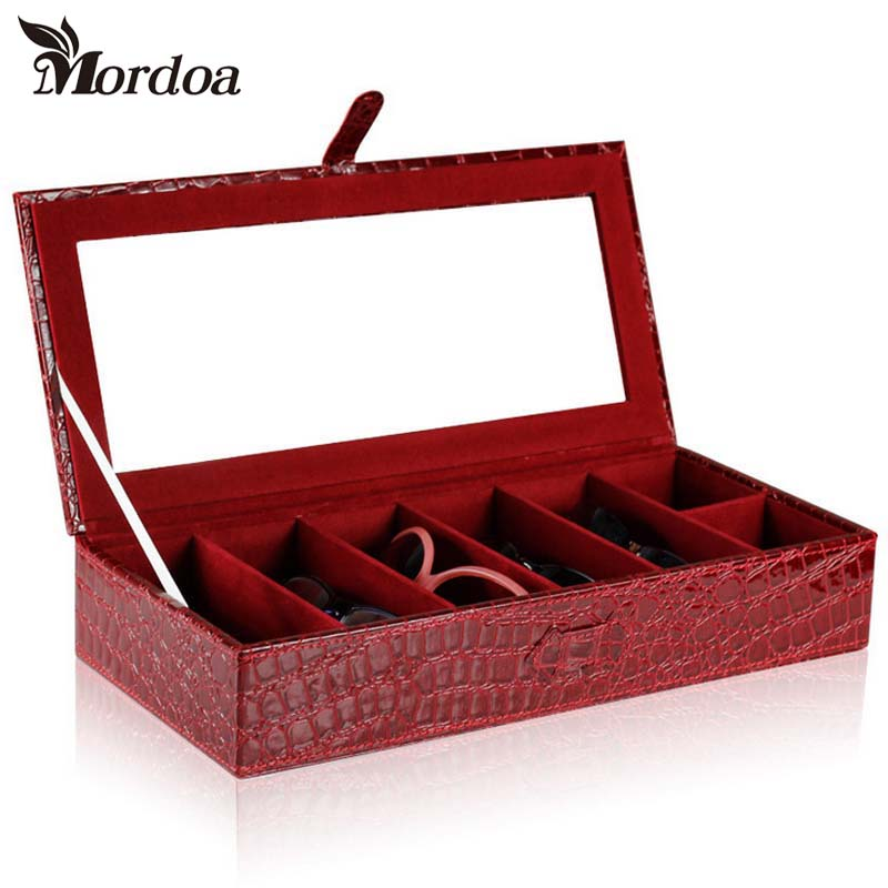2017 Mordoa High-Grade Multifunctional Glasses Storage Box/shelf Sunglasses Storage Box/Rack 3D Glasses Display Boxes 7 Grid mordoa 12pcs glasses storage display case box eyeglass sunglasses optical display organizer frames tray 3d glasses display rack