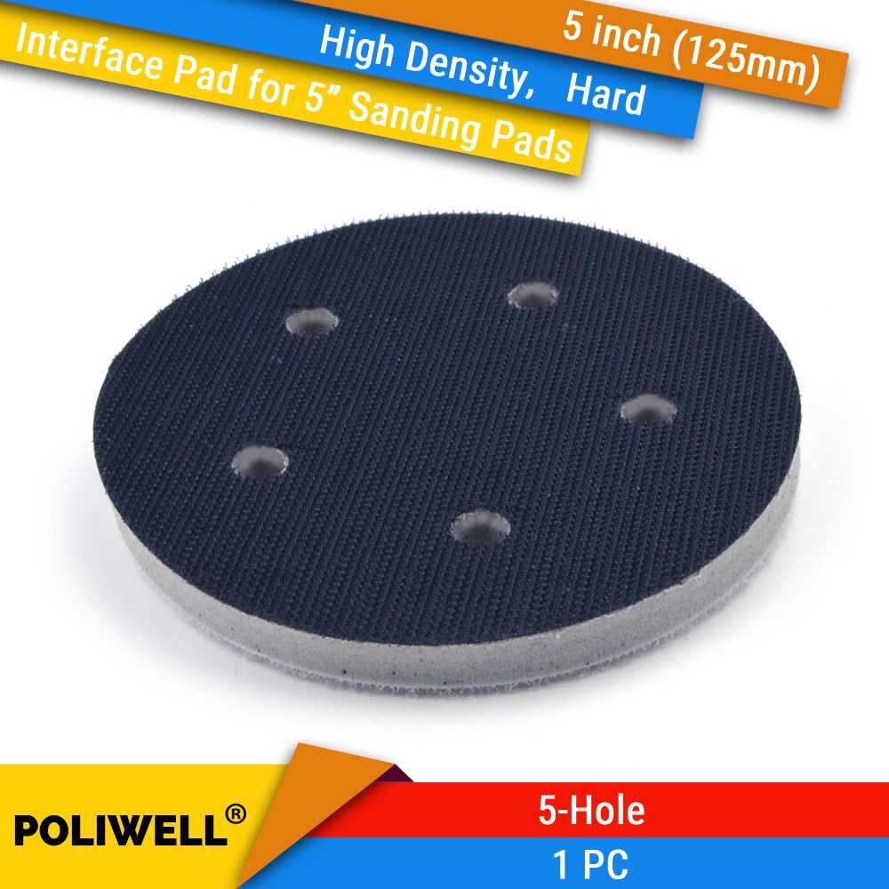 5 Inch 125mm 5-Hole High Density Hard Sponge Surface Protection Interface Pads For 5