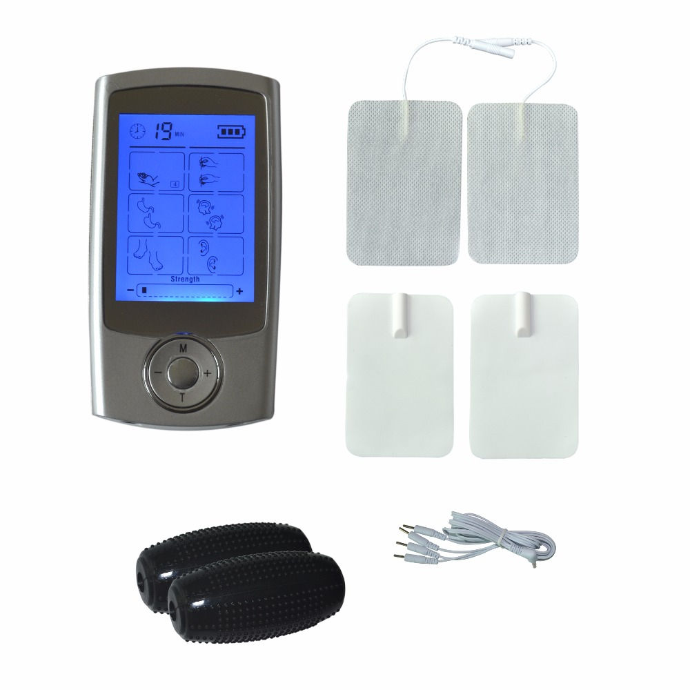 16Modes TENS Electrodetherapy Health Massager Body Relax Burn Fat +1Pr Therapy Hand Grenade+A Conducting Wire+2Pr Electrode Pads