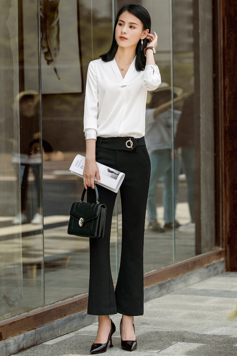 70b834814a35e Aliexpress.com   Buy 2018 New Styles Formal Pantsuits With 2 Piece Pants  and Tops Sets Blouses   Shirts For Women Business Work Wear Pants Suits from  ...
