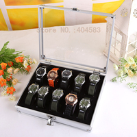 10 Grid Watch Display Box Case Jewelry Bracelet Display Stand Holder Storage Case tabletop showcase