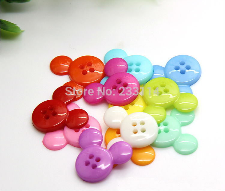 A20 wholesale Candy color diy cartoon baby clothes buttons scrapbooking children accessories buttons for craft clothing set