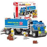 2016 163pcs Transport Dumper Truck Model Building Blocks Can Build 8 Shapes Educational Toys Without Original
