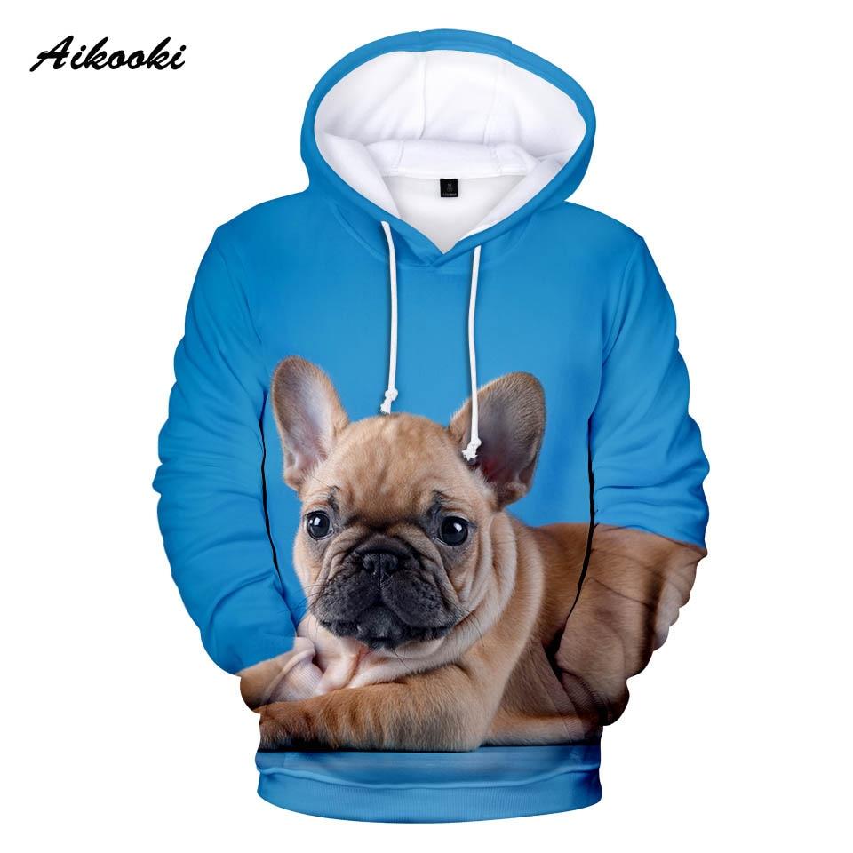 Aikooki Nette Französisch Bulldog Hoodies Männer Frauen Mode Winter Hoodie 3d Französisch Bulldog Marke Design Jungen/mädchen Sweatshirts Hoody Weitere Rabatte üBerraschungen
