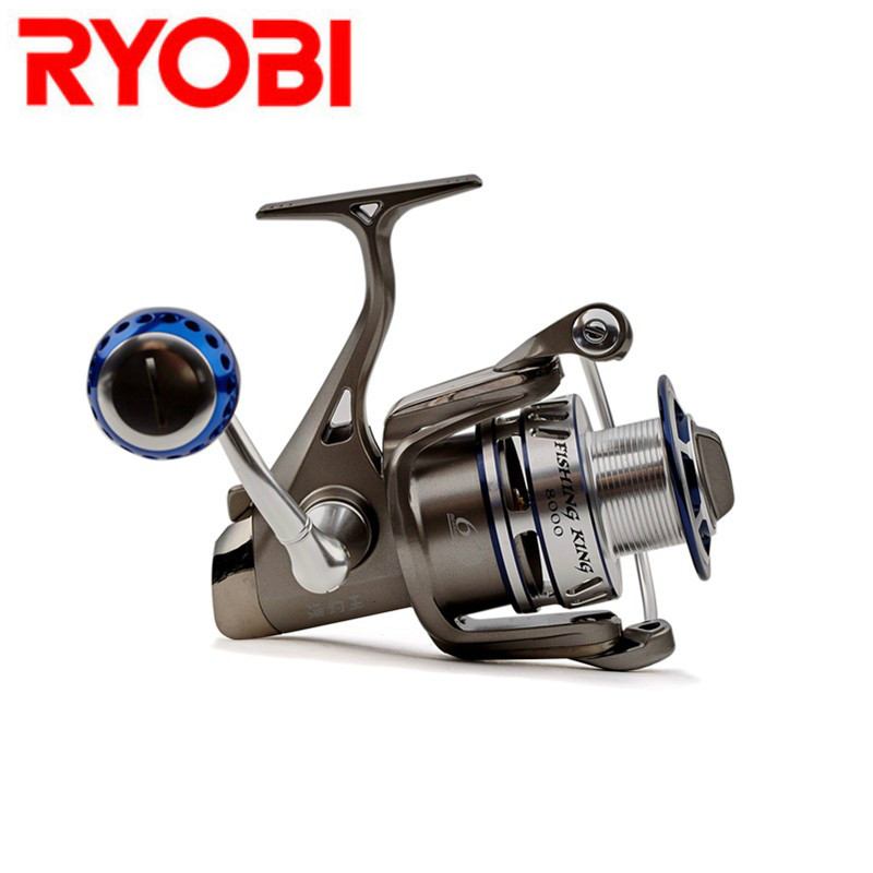 RYOBI FISHING KING I 1000-8000 Spinning Fishing Reel 5.0:1/5.1:1 6+1BB Saltwater Carp Fishing Reel Carretilhas De Pesca Moulinet