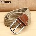 Yienws Elastic Woven Boy Belts For Jeans Children's Belt Western Cowboy Belt B018