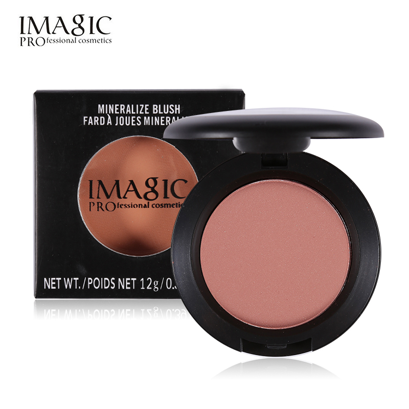 IMAGIC Professional Face Makeup Bronzer Blush 8 Colors Minerals Blusher Powder Palette Baked Cheek Color Sleek Beauty Cosmetics