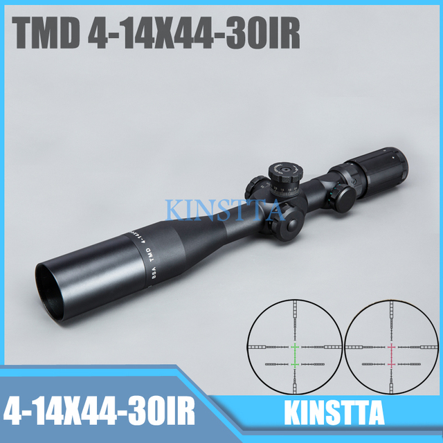 Tactical TMD 4-14X44 IR FFP Riflescope First Focal Plane Optical Sight Rifle Scope Side Parallax Glass For Airsoft Hunting