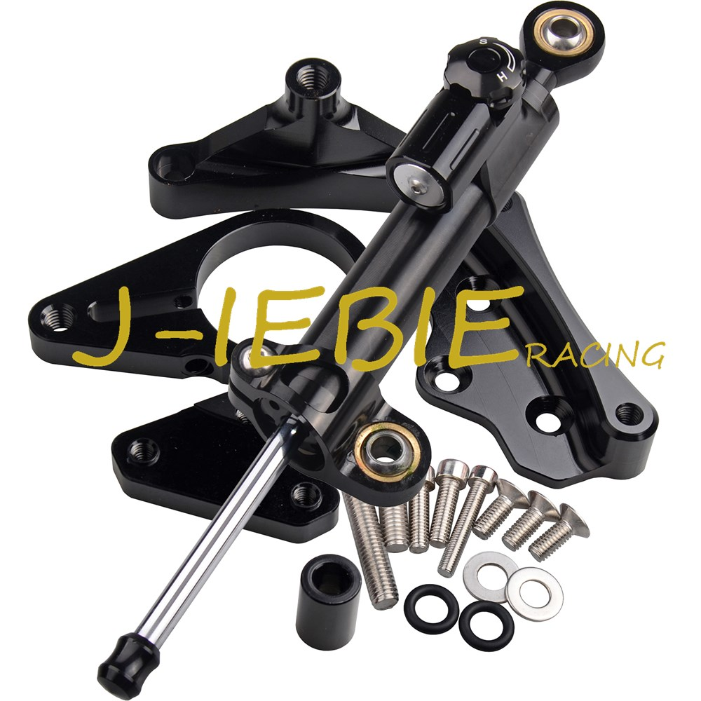 CNC Steering Damper Stabilizer and Black Bracket Mounting For Honda CBR650F CBR650 CBR 650 F 2014-2016 2015 стоимость
