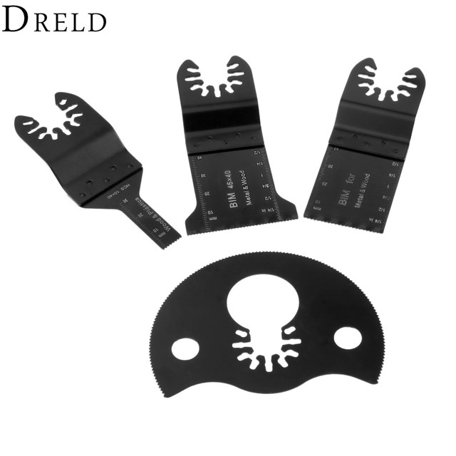 Dreld 4pcs Set Oscillating Multi Tool Saw Blades Accessories
