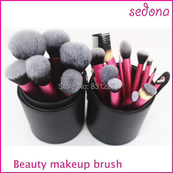 Free Shipping Sedona Brand 22pcs Professional High Quality Makeup Brush Set with Cylinder Case Synthetic Hair