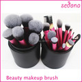 Free Shipping!! Sedona Brand 22pcs Professional High Quality Makeup Brush Set with Cylinder Case,Synthetic Hair Brush Set