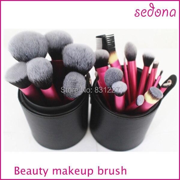frete gratis sedona marca 22 pcs profissional de alta qualidade conjunto escova maquiagem com caixa do
