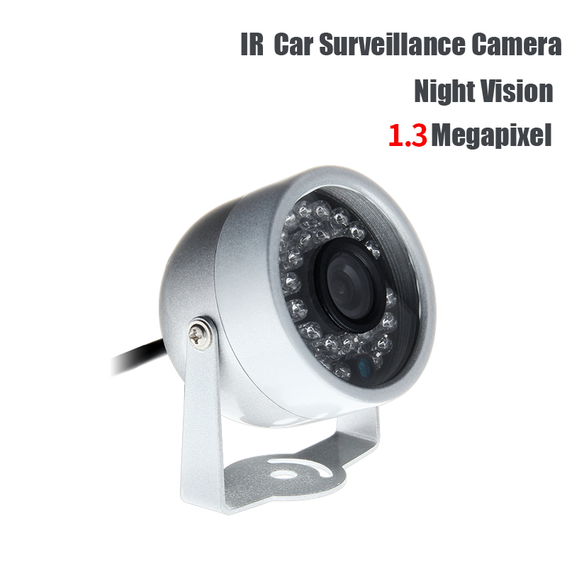 DC12V AHD 1.3MP Mini 1/3 CCD Sony Camera IR Night Vision Indoor Waterproof for Car Truck School Bus Vans Mobile DVR Surveillance mini bullet cvbs ccd camera 700tvl with headset mount for mobile surveillance security video 5v