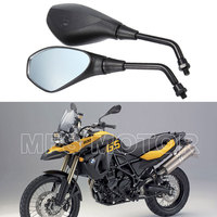 New Motorcycle Black Rearview Mirrors 10mm For BMW F800GS 2008 2009 2010 2011 08 0910 11 High Quality Motorcycle Parts