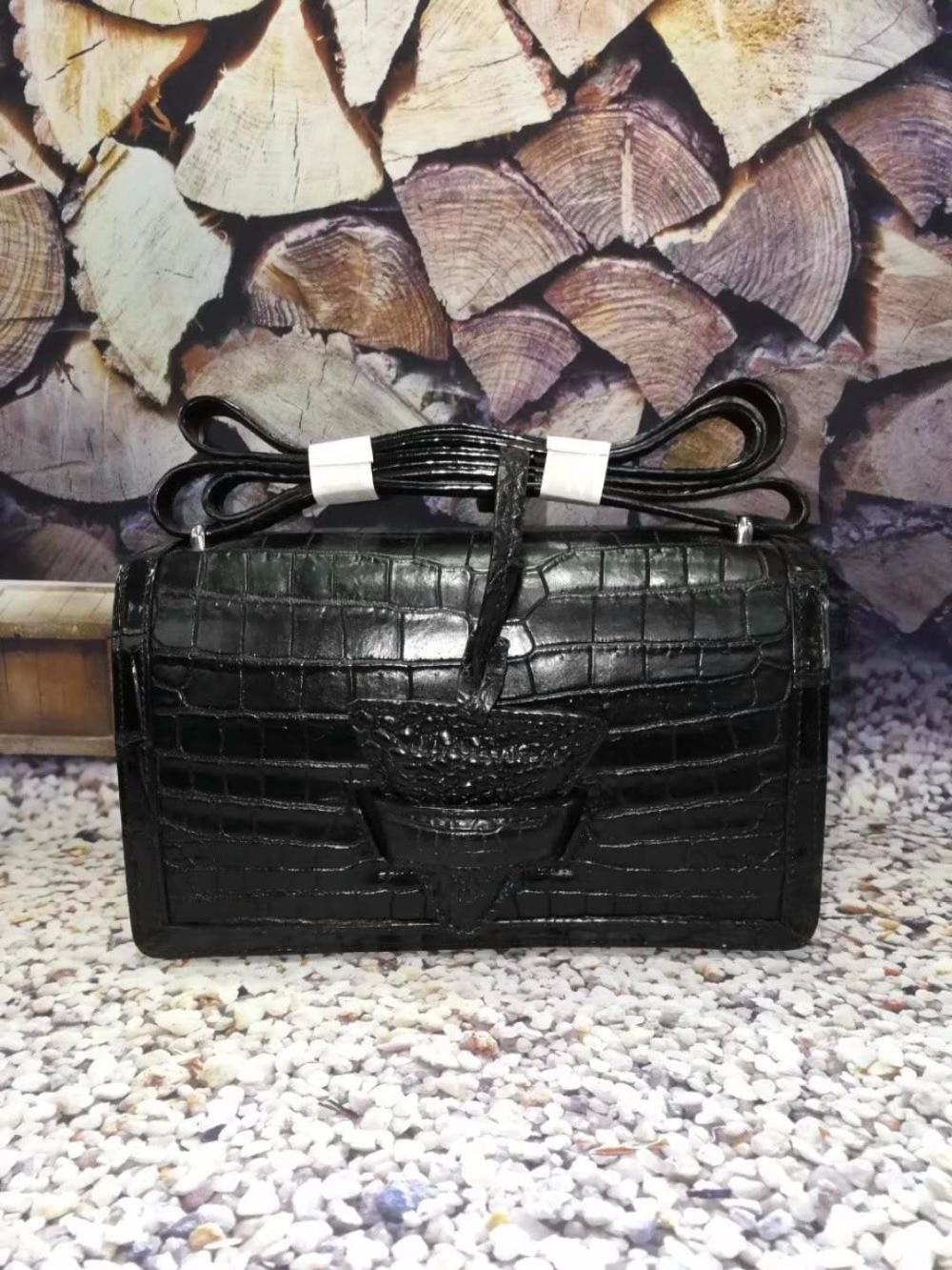 Krokodilleder 100 Tasche Täglichen Riemen Tag Handtasche Frauen Umhängetasche Echte Mit Langen Leder Kleine HqqA5